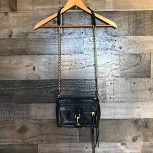 Rebecca Minkoff Black Leather Mac Mini Crossbody